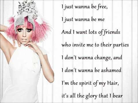 Lady Gaga - Hair (acoustic) ~ Lyrics