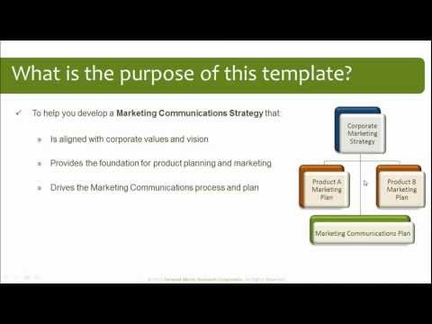 Marketing Communications Plan Template