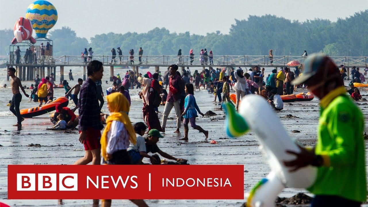 Risiko Covid-19 di tempat wisata padat dan kalung pemantau jarak aman - CLICK|BBC News Indonesia
