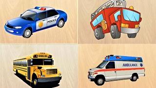 Мультики про #МАШИНКИ Техника Пазлы #Развивающие #Мультфильмы для Детей Учим Машинки. Мультики 2017