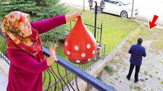 BALLOON in COCA Cola  PRANK!  ONLY BALLOON COCA COLA hair KEREM'İN JOKE from BALCONY 1