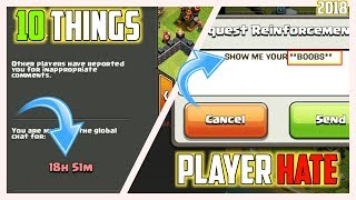 10 THINGS MOST PLAYERS HATES IN CLASH OF CLANS l UPDATED 2018 EDITION