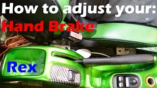 How to adjust the Hand Brake Cable - Peugeot / Citroen [Easy - FULL GUIDE]