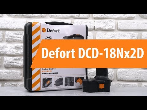 Распаковка шуруповерта Defort DCD-18Nx2D / Unboxing Defort DCD-18Nx2D
