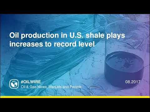 Oil production in U S  shale plays increases to record