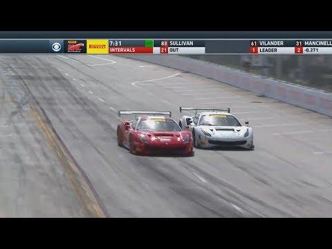 Pirelli World Challenge (GT/GTA/GTS/GTSA) 2018. Grand Prix of Long Beach. Last Laps