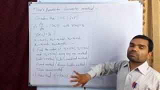 Milne's Predictor Corrector Method in hindi