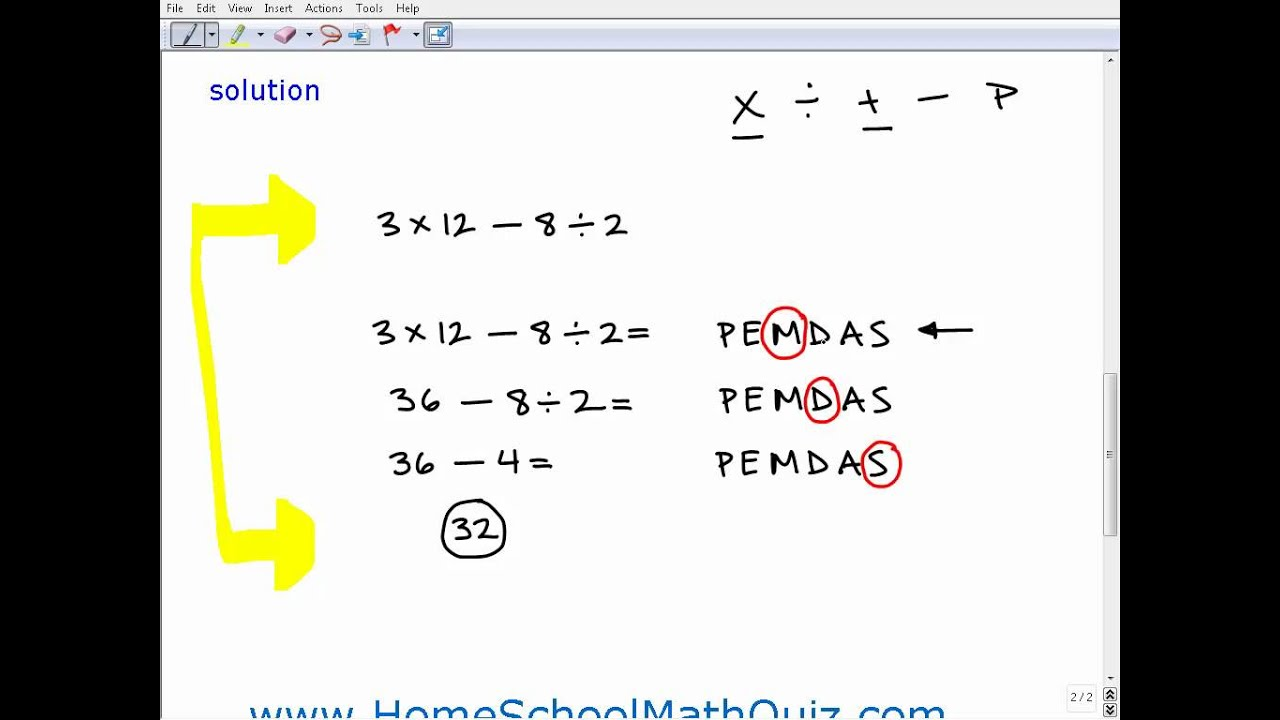 Homeschool Math Practice Order of Operations Quiz - YouTube