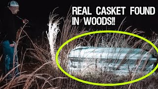 (Police Called) RANDONAUTICA IS TERRIFYING - REAL CASKET FOUND IN THE WOODS