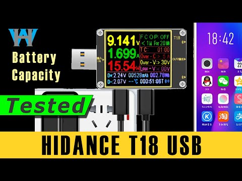 ATORCH HIDANCE T18 Battery capacity monitor protection for Phone or tablet charge