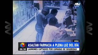 Comas: Delincuentes asaltaron una farmacia a plena luz del día