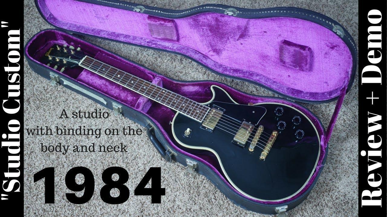 1984 Gibson Les Paul Studio Custom Black Review And Demo Youtube Epi Vs Selector Switch Mylespaulcom
