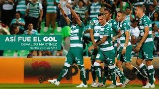 embeded bvideo Así fue el GOL - Osvaldo Martínez | Santos VS Atlas J12 AP18