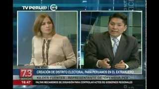 Crearán distrito electoral para peruanos en el extranjero