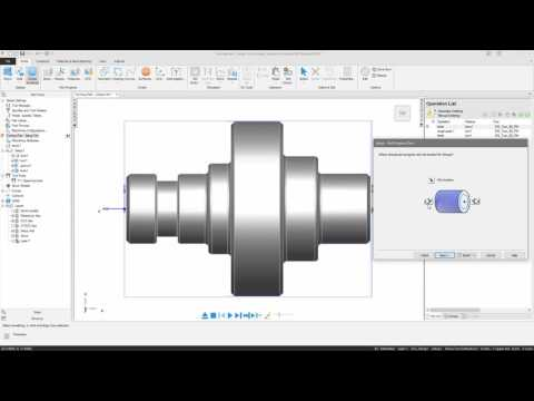 FeatureCAM Getting Started - Tutorial - Part Handling for Turning