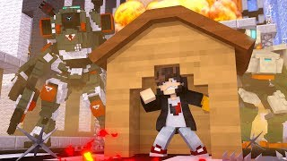 Minecraft: DESAFIO DA BASE 100 % SEGURA CONTRA SUPER ROBO ‹ JUAUM ›