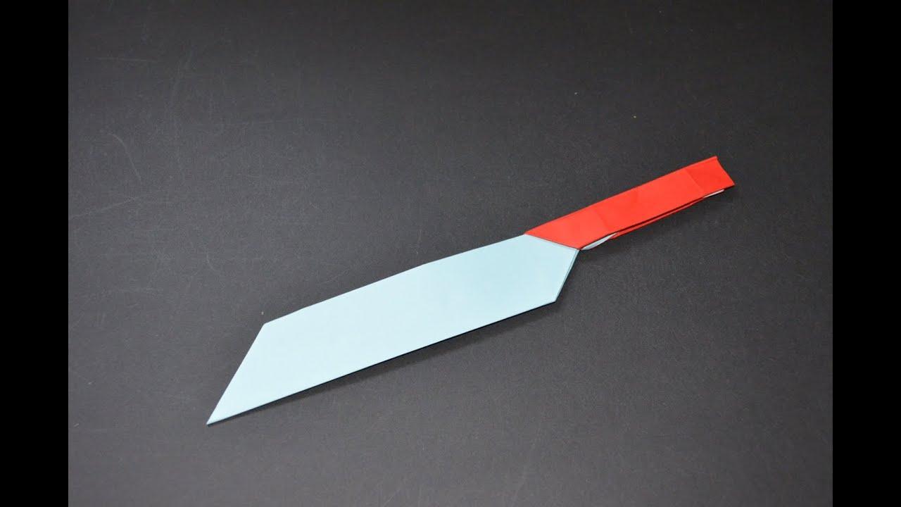 Como hacer un cuchillo de papel youtube - Como hacer soporte para cuchillos ...