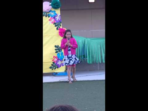 Alexxa's 4th grade talent show