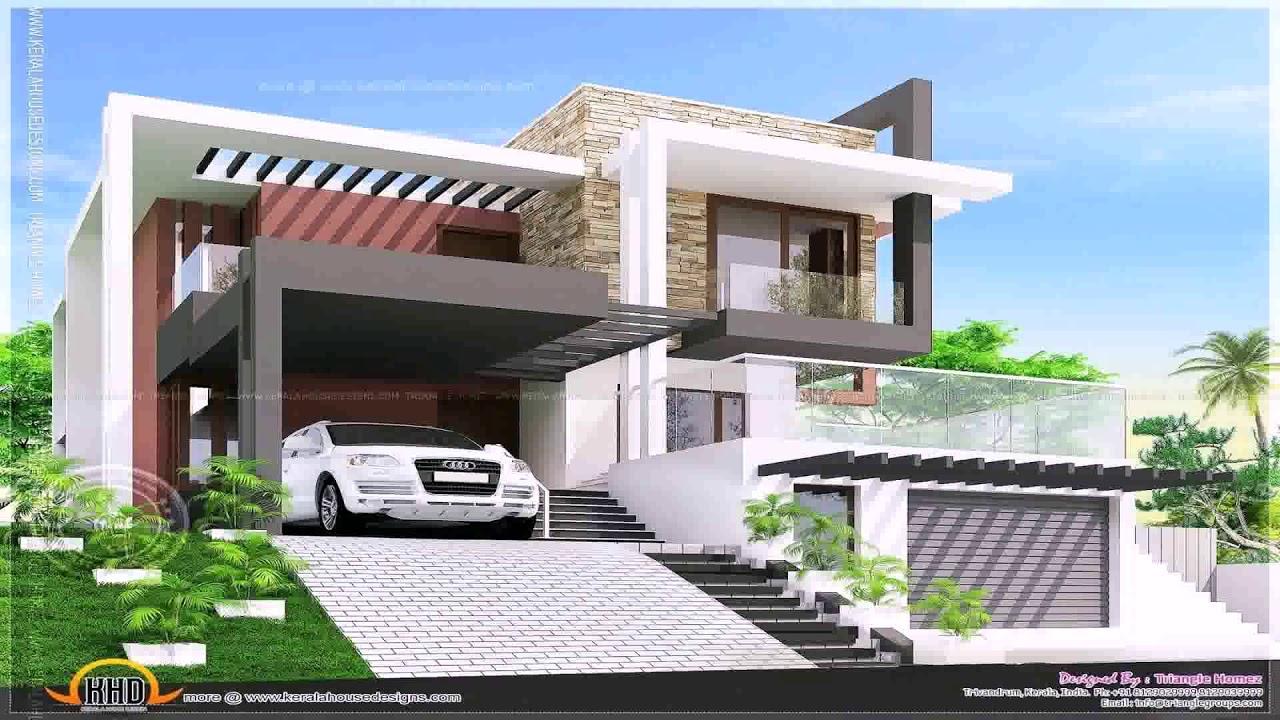 Ultra Modern Glass House Design (see description) - YouTube