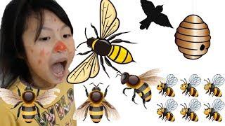 Nghịch Dại Trêu Ong và Cái Kết Bị Ong Đốt - Baby Troll Bee and The End