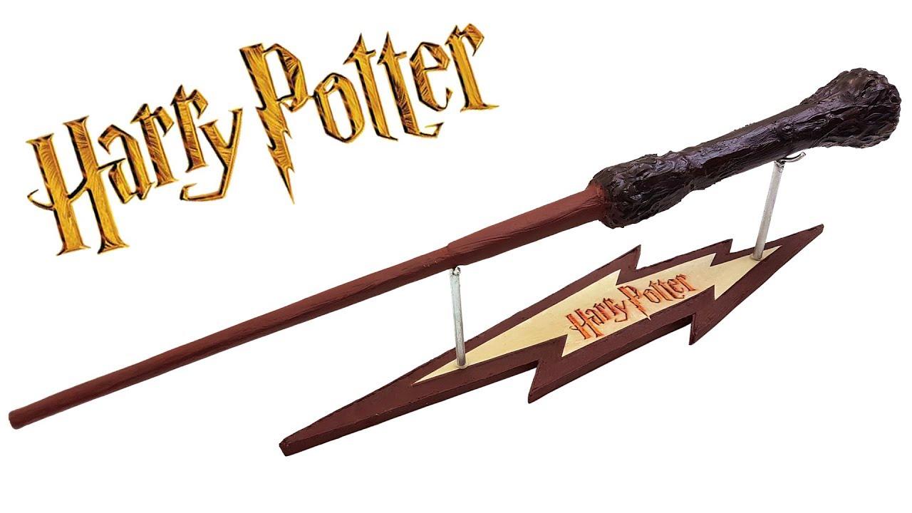 Varita Mágica De Harry Potter Con Soporte Te Digo Cómo Youtube