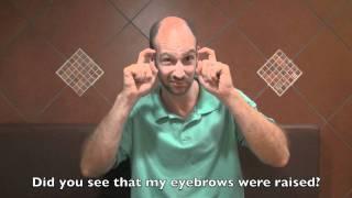 Facial Expression: Question-Maker   ASL - American Sign Language