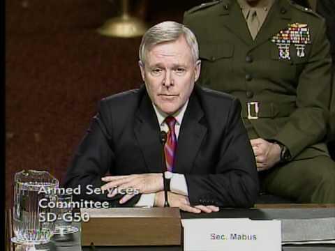 Secretary of the Navy Ray Mabus Testimony on Don