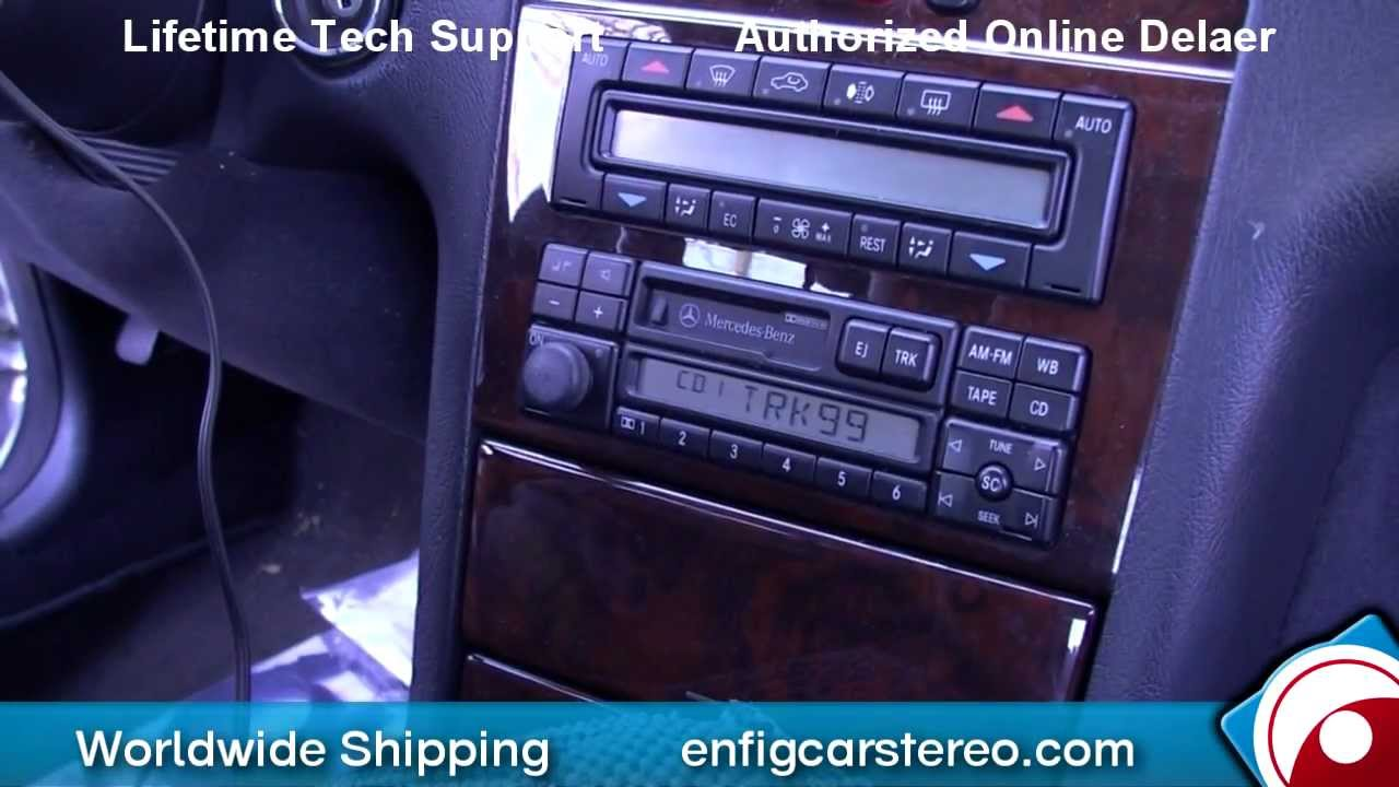 97 mercedes e class aux input installation and demonstration - youtube