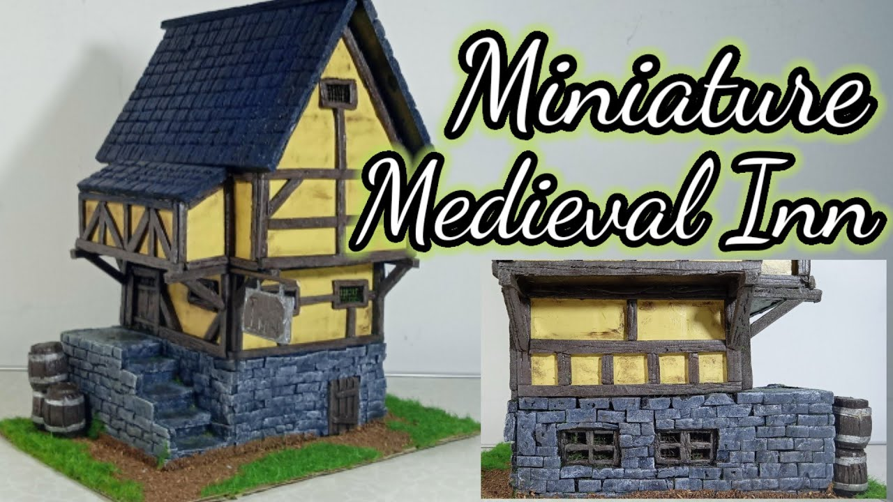How to Build Miniature Medieval House Village Inn - Diy Miniature Medieval Inn - Diy Projects Crafts