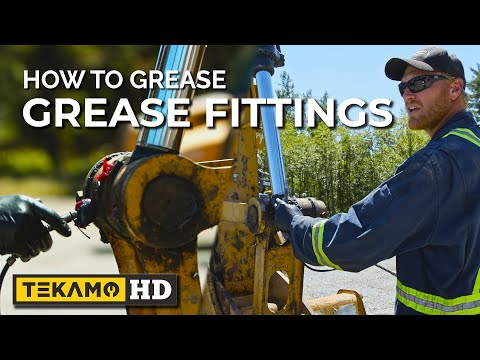 He Greases Excavator Fittings In UNDER 4 MINUTES