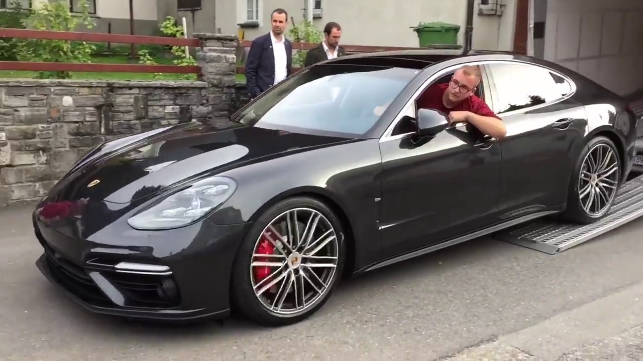 all new porsche panamera turbo spotted sound and in detail youtube