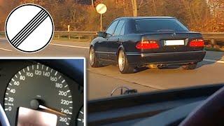 Mercedes W210 E430 vs W211 E350 100-245 kph Autobahn Race Acceleration