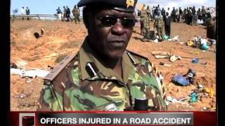 9 POLICE OFFICERS HOSPITALIZED AT NYAHURURU HOSPITAL AFTER AN ACCIDENT