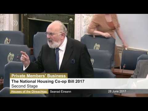 David Norris warns Seanad of vulture fund evictions