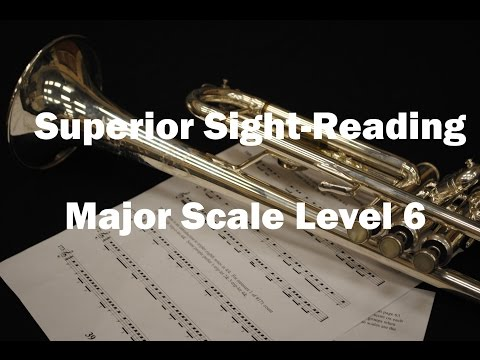 Superior Sight-Reading -  Major Scale Level 6