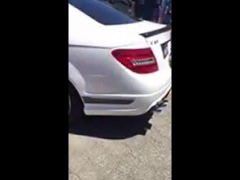 Mercedes Benz C63 AMG Coupe Insane Brutal Revs + Backfire + Pops best  sounding C63
