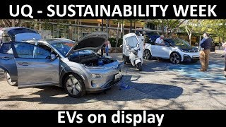 Ev Display At University Of Queensland - Sustainability Week 2019