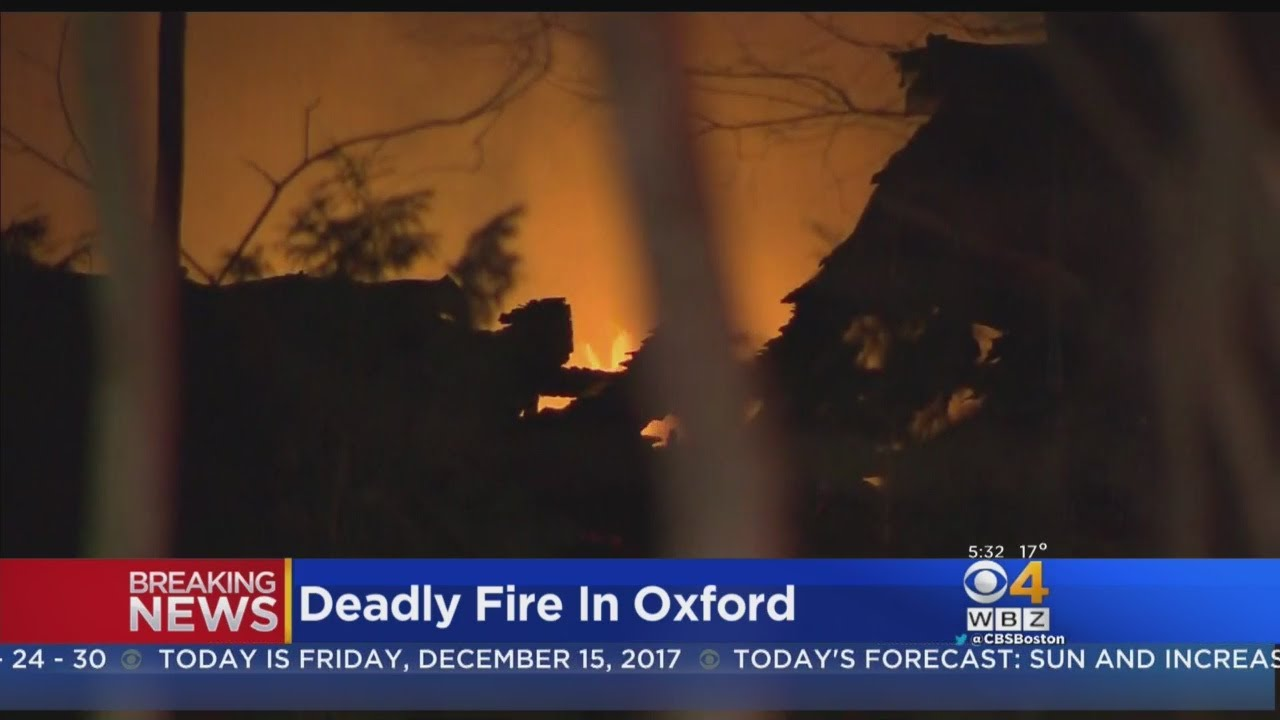 One Dead In Oxford House Fire