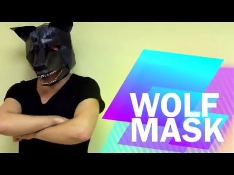 How to make Wolf Mask from paper | DIY | Handmade