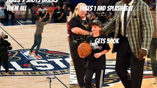 Steph Curry Couldnt Make A Halfcourt Shot So A little Kid Takes Over And Gets $500,000