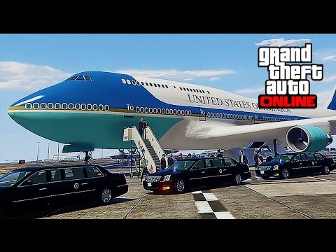 GTA 5 ONLINE President Escort Mission - ASSASSINATION Attempt (With Mods)
