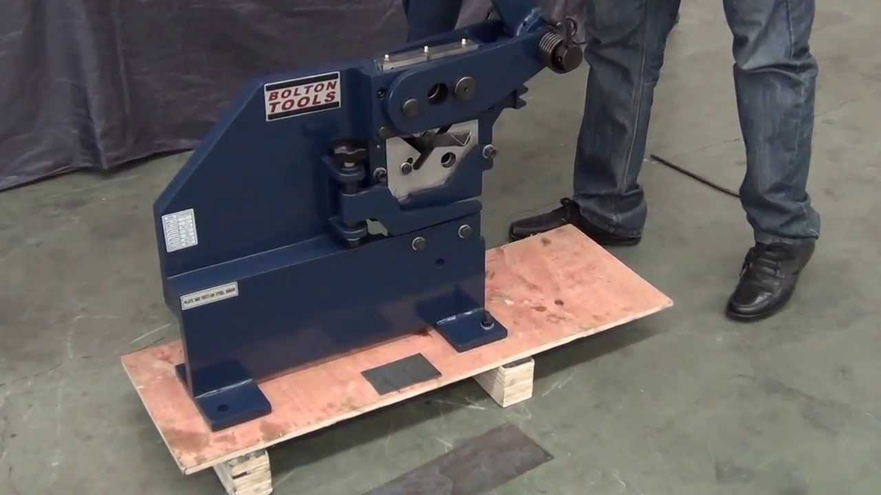 Bolton Tools Pbs 9 Manual Ironworker With Sheet Metal