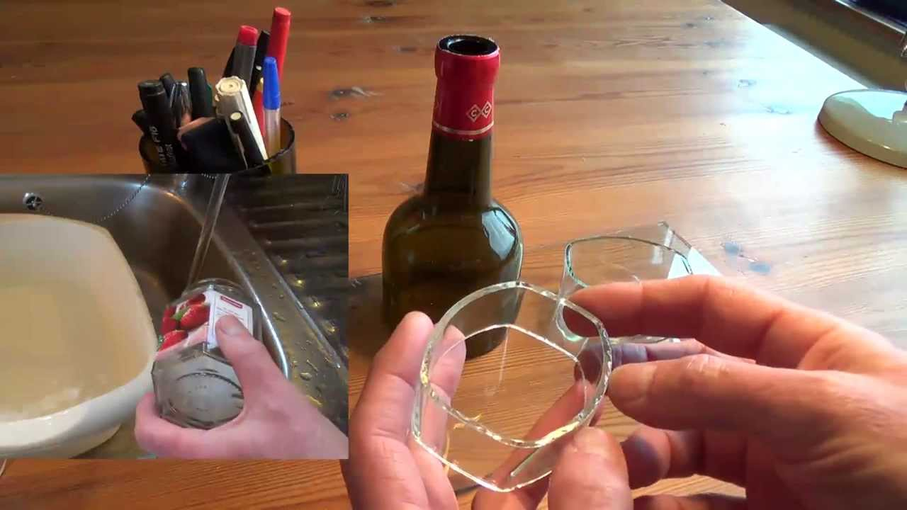 Cutting glass bottles into rings easily with