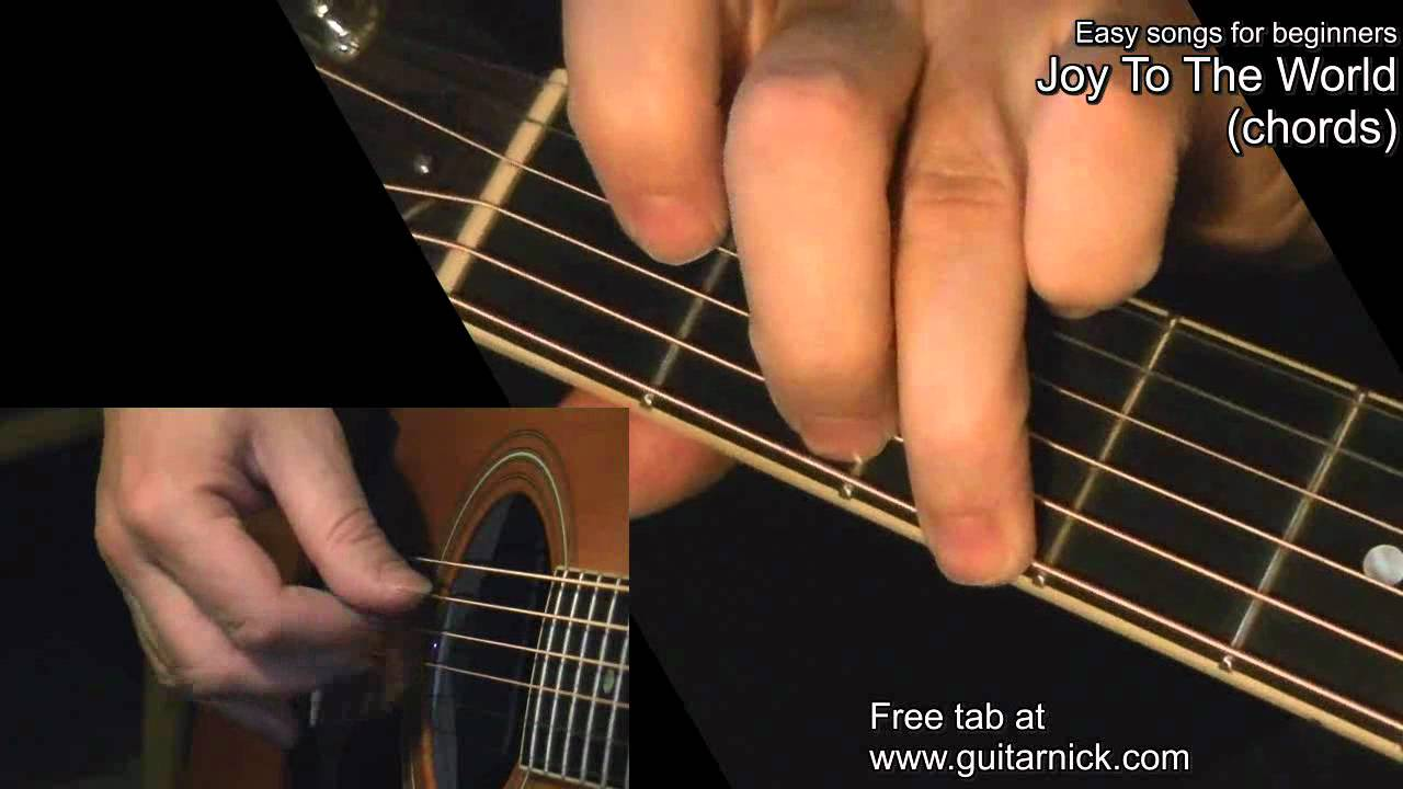 Joy To The World Chords Guitar Lesson Tab By Guitarnick Youtube