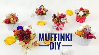MUFFINKI - STROIK ŚWIĄTECZNY - ZRÓB TO SAM - Diy Christmas