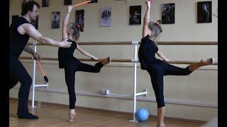 Урок хореографии для гимнасток-художниц.Ч.I