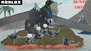 Devasaur Fights! + Hide and Seek with BellasaursYT (Roblox Ancient Earth)