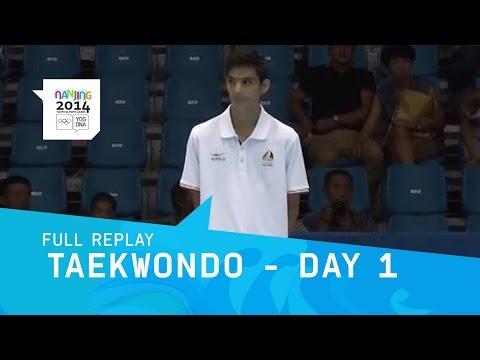 Taekwondo Finals Men -48kg/Women -44 kg   Full Replay   Nanjing 2014 Youth Olympic Games
