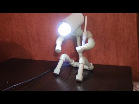 Настольная лампа #Робот# Своими руками