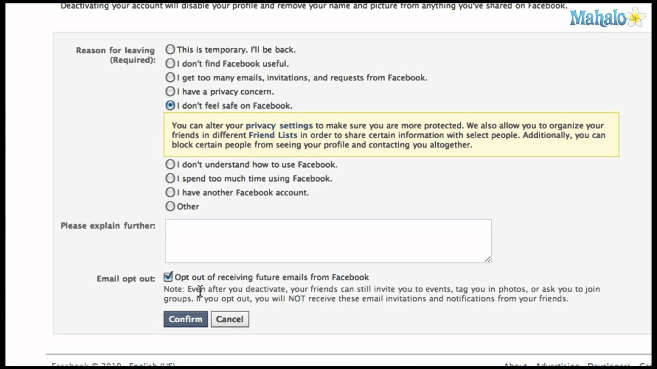 How Do You Cancel Your Facebook Account